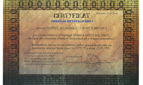 certyfikat IK